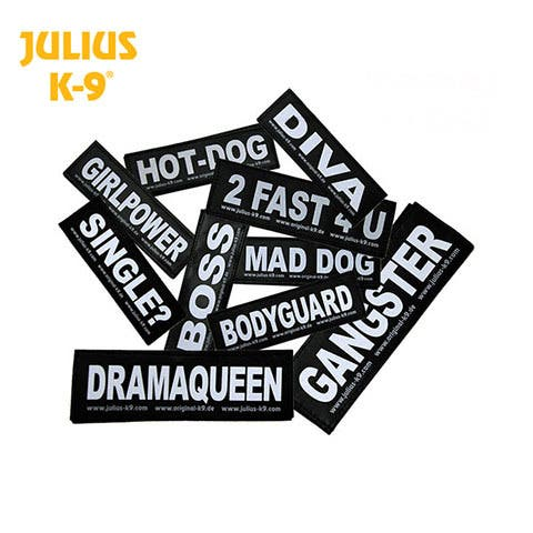 Julius K9 Reflective Labels - Sold as a Pair