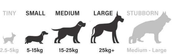 Suitable for small, medium and large dogs